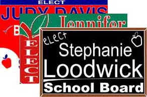 yard signs banners political sign templates cheap political